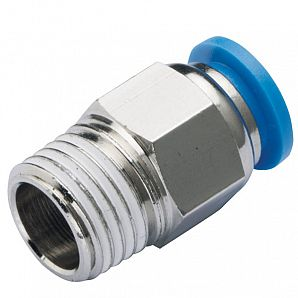 PC Straight Thread Plastic Push-in Fitting