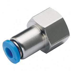 PCF Bulkhead Female Straight Thread Plastic Push-in Fitting
