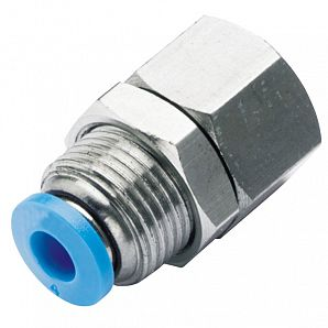 PMF Female Straight Bulkhead Union Plastic Push-in Fitting
