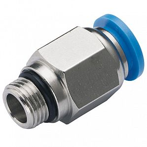 PC-G Straight Male G/BSPP Thread Plastic Push in Fitting/ Pneumatic Fitting/Compressed Air Fitting/One Touch Tube Fitting