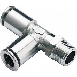 MPD Metal Run Tee Nikel Plated Brass Push in Fittings/ Brass Pneumatic Fitting/Compressed Air Fitting/Metal Run Tee One Touch Tube Fitting