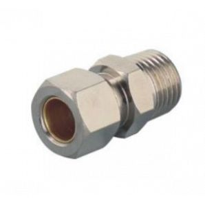 MTPC Brass Compression Male Coupler/ Brass Compression Fitting/Compression Air Fitting/Metal Compression Fitting