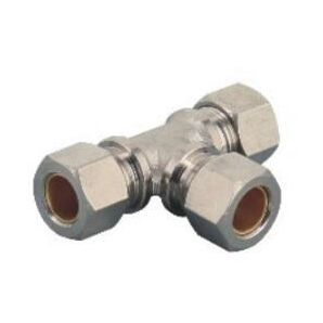 MTPEG Tee Compression Reducer/Pneumatic Compression Fitting Tee/Compressed Air Reducing Fitting/Metal Compression Fitting