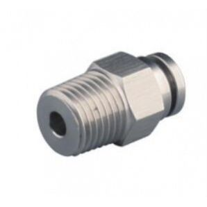 SS-PC Male Straight Stainless Steel Push in Fittings/Stainless Steel Push in Fitting/Stainless Steel One Touch Tube Fitting/Stainless Steel Push to Connect Fitting