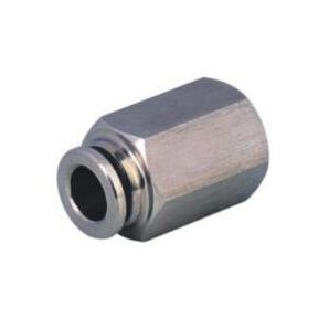 SS-PCF Female Straight Stainless Steel Push in Fittings/Stainless Steel Push in Fitting/Stainless Steel One Touch Tube Fitting/Stainless Steel Push to Connect Fitting