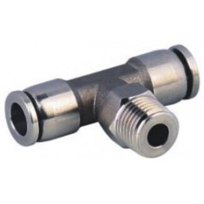 SS-PB Stainless Steel Tee Branch Push in Connector/Stainless Steel Tee Push in Fitting/Stainless Steel One Touch Tube Fitting/Stainless Steel Push to Connect Fitting