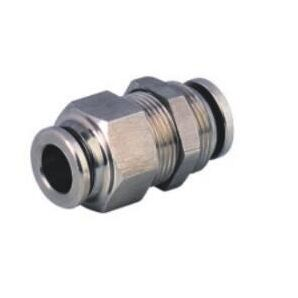 SS-PM Stainless Steel Bulkhead Union Push in Connector/Stainless Steel Bulkhead Push in Fitting/Stainless Steel One Touch Tube Fitting/Stainless Steel Push to Connect Fitting