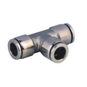 SS-PE Stainless Steel Union Tee Push in Connector/Stainless Steel Union Tee Push in Fitting/Stainless Steel One Touch Tube Fitting/Stainless Steel Push to Connect Fitting