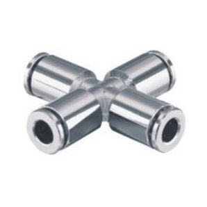 SS-PZA Stainless Steel Cross Push in Connector/Stainless Steel Cross Push in Fitting/Stainless Steel One Touch Tube Cross Fitting/Stainless Steel Cross Push to Connect Fitting