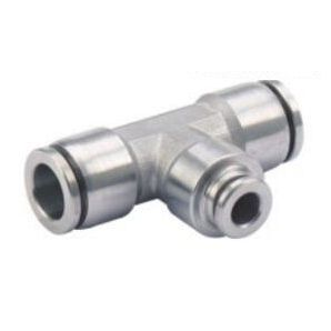 SS-PEG Stainless Steel Union Tee Reducer/Stainless Steel Union Tee Push in Fitting/Stainless Steel Different Tube Diameter One Touch Tube Fitting/Stainless Steel Push to Connect Fitting