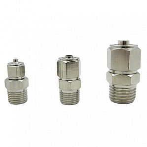 TPC Male Straight Nikel Plated Brass Push on Fittings/ Pneumatic Push on Fitting/Metal Screw Lock Fitting/Rapid Push on Fitting/Insert Fittings