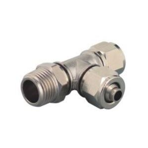 TPD Run Tee Brass Push on Fittings/ Run Tee Pneumatic Push on Fitting/Screw Lock Run Tee Fitting/Rapid Push on Run Tee Fitting/Insert Fittings