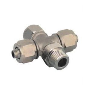 TPZR Branch Cross Nikel Plated Brass Push on Fittings/ Compressed Air Rapid Push on Fitting/Metal Branch Cross One Touch Tube Fitting/Branch Cross Insert Fittings